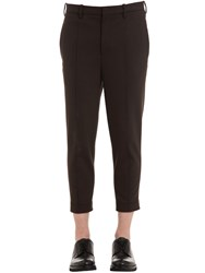 Neil Barrett Skinny Zip Hem Wool Gabardine Pants