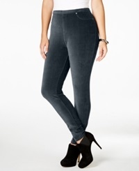 Style And Co. Plus Size Corduroy Stretch Leggings Only At Macy's Industrial Blue