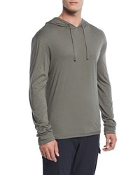 Vince Double Layer Pullover Hoodie Pine
