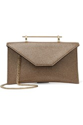 M2malletier Annabelle Glittered Leather Shoulder Bag Gold