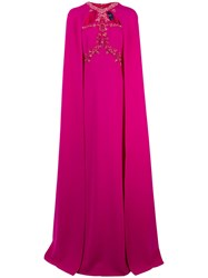 Marchesa Notte Beaded Embroidered Cape Gown 60