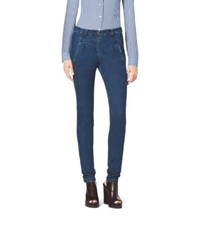 Michael Kors Single Pleat Stretch Skinny Jeans Chambray