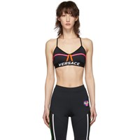 Versace Underwear Black 80'S Sports Bra
