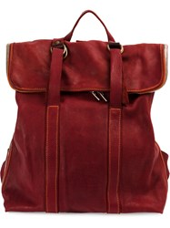 Guidi Foldover Top Backpack Red