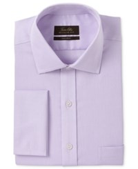 Tasso Elba Men's Classic Regular Fit Non Iron Lavender Tonal Square Texture French Cuff Dress Shirt Only At Macy's