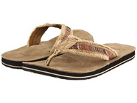 Sanuk Fraid So Red Brown Men's Toe Open Shoes