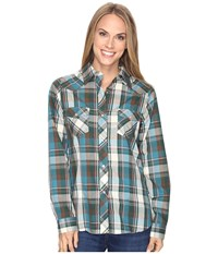Roper 0682 Sand And Sea Plaid Tan Women's Clothing