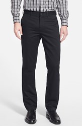 Men's Big And Tall Nordstrom Smartcare Slim Leg Twill Pants Black Anthracite