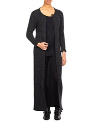 William Rast Knit Maxi Cardigan Black Chalk