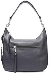 Marc Jacobs Woman Textured Leather Shoulder Bag Anthracite