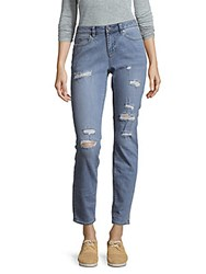 Vince Camuto Ripped Skinny Denim Jeans Rip Blue