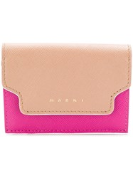 Marni Foldover Wallet Nude And Neutrals