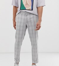Noak Slim Fit Smart Trouser In Grey Check