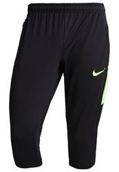 Nike Performance 3 4 Sports Trousers Black Electric Green