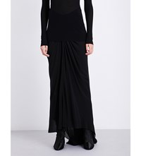 Rick Owens Mermaid Silk Skirt Black