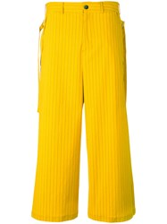 Damir Doma Pavel Trousers Men Cotton Polyamide S Yellow Orange