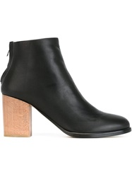 Helmut Lang Chunky Heel Ankle Boots Black