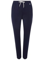 Dorothy Perkins Dp Curve Navy Heart Embroidered Joggers Blue