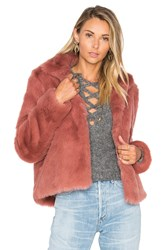 Lovers Friends X Revolve Mia Faux Fur Jacket Mauve