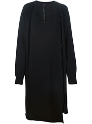 Barbara I Gongini Layered Loose Fit Dress Black
