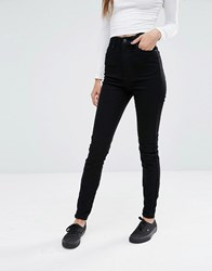 Dr. Denim Dr Zoe Sky High Waist Eco Skinny Jeans Black