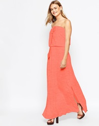 Asos Bandeau Maxi Dress With Tassel Red
