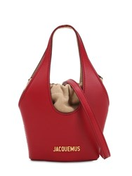 Jacquemus Le Carino Leather Shoulder Bag Red