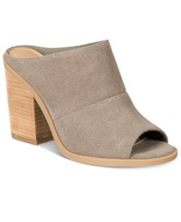 Call It Spring Galerassi Block Heel Mules Women's Shoes Taupe