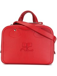 Courreges Double Handles Medium Tote Red