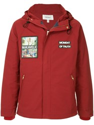 Makavelic Jesus Mountain Parka Jacket Red