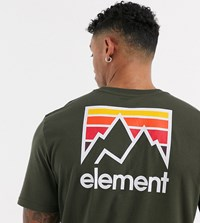 Element Joint T Shirt In Green Exclusive At Asos