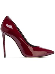 Marc Ellis Pointed Toe Pumps Leather Patent Leather Pink Purple