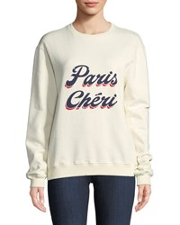 Baandsh Paris Cheri Long Sleeve Crewneck Sweatshirt Ecru