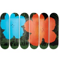 The Skateroom Andy Warhol Set Of Six Printed Wooden Skateboards Orange