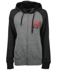 5Th And Ocean Women's Chicago Bulls Audible Hooded Sweatshirt Gray Black