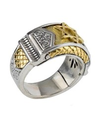 Konstantino Men's Sterling Silver And Gold Star Of David Ring
