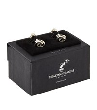 Deakin And Francis Silver Bar Knot Cufflinks Unisex
