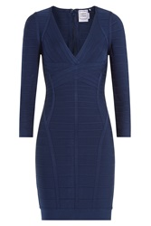 Herve Leger Herve Leger Bandage Dress Blue
