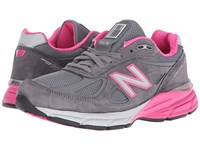 New Balance W990v4 Grey Pink Women's Running Shoes Gray
