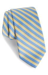 Southern Tide Striped Cotton And Silk Tie Yellow