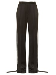 Givenchy Side Tie Wide Leg Cady Trousers