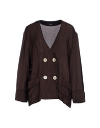 Pedro Del Hierro Suits And Jackets Blazers Women Dark Brown