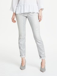 Marc Cain Distressed Jean Metallic Grey