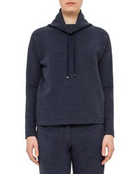 Akris Punto Long Sleeve Funnel Neck Pullover Denim
