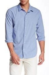 Save Khaki Melange Simple Classic Fit Shirt Blue