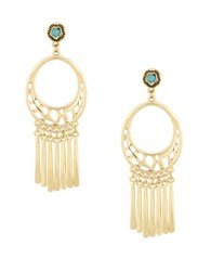 Laundry By Shelli Segal Pacific Highway Goldtone Cutout Chandelier Earrings Turquoise