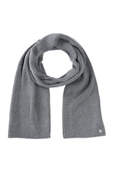 Victorinox Essential Knit Ribbed Scarf Gray