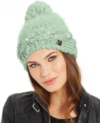 Betsey Johnson Pearly Girl Hat Sky Blue