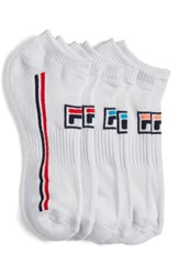 Fila Women's 3 Pack Logo No Show Socks