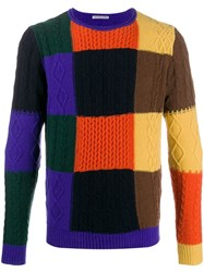 Daniele Alessandrini Colour Block Jumper Black
